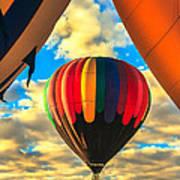 Colorful Framed Hot Air Balloon Art Print by Robert Bales