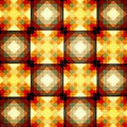 Colorful Geometric Collage Art Print