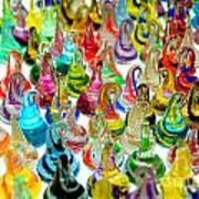 Colorful Glass Drops Art Print