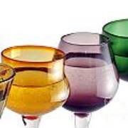 Colorful Glasses In A Row Art Print