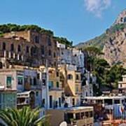 Colorful Houses In Capri Art Print