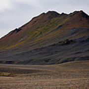 Colorful Icelandic Mountain Art Print