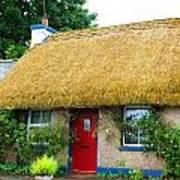 Colorful Irish Cottage Art Print
