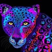 Colorful Jaguar Art Print