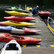 Colorful Kayaks At Whistler Bc Art Print