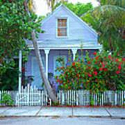Colorful Key West Cottage Art Print