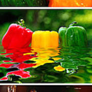 Colorful Kitchen Collage Art Print