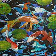 Colorful Koi Art Print