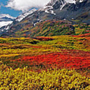 Colorful Land - Alaska Art Print