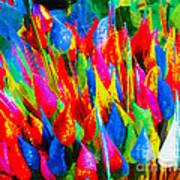Colorful Leafs Art Print
