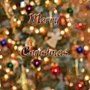 Colorful Lights Christmas Card Art Print