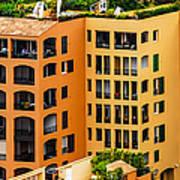 Colorful Living In Monaco Art Print