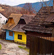 Colorful Log Homes Art Print