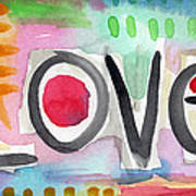Colorful Love- Painting Art Print by Linda Woods