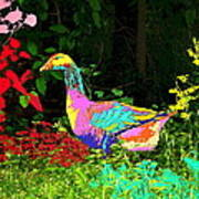 Colorful Lucy Goosey Art Print