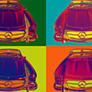 Colorful Mercedes Benz 300 Sl Convertible Popart Art Print