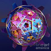 Colorful Metallic Orb Art Print