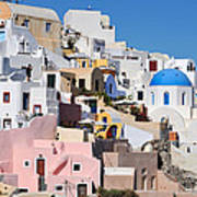 Colorful  Oia Art Print