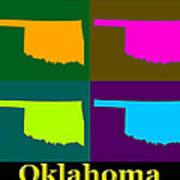 Colorful Oklahoma State Pop Art Map Art Print