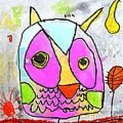 colorful Owl Art Print