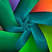 Colorful Ribbons Art Print