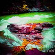 Colorful River Art Print