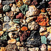 Colorful Rock Wall With Border Art Print