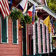 Colorful Row Houses Art Print