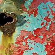 Colorful Rusty Door Art Print