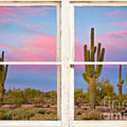 Colorful Southwest Desert Window Art View Art Print