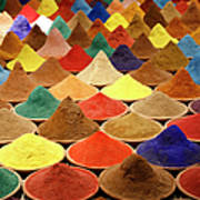 Colorful Spices Art Print