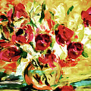Colorful Spring Bouquet - Abstract  Art Print