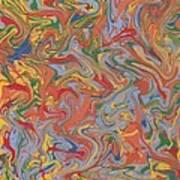 Colorful Swirls Drip Painting Art Print