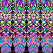 Colorful Symmetrical Abstract Art Print