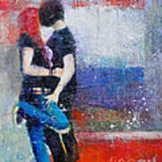 Colorful Teen Together For Ever  Art Print