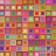 Colorful Textured Squares Art Print