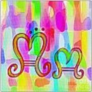 Colorful Texturized Alphabet Mm Art Print