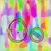 Colorful Texturized Alphabet Oo Art Print
