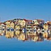 Colorful Town Of Tribunj Waterfront Art Print