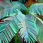 Colorful Tropical Leaves In The Jungle Art Print