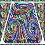 Colorful Twirl Wave Shield Design Background Designs  And Color Tones N Color Shades Available For D Art Print