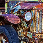 Colorful Vintage Car Art Print