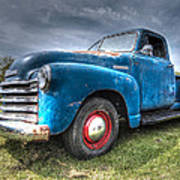 Colorful Workhorse - 1953 Chevy Truck Art Print