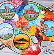 Colori Di Sicilia Art Print