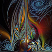 Colors In Motion-fractal Art Art Print