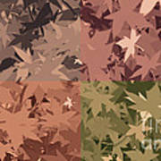 Colors Of Fall Leaves Abstract Art Print