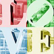 Colors Of Love Philadelphia Pa Art Print