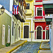 Colors Of Old San Juan Puerto Rico Art Print