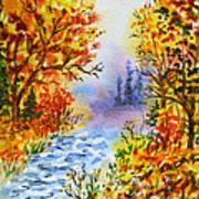 Colors Of Russia Autumn  Art Print by Irina Sztukowski
