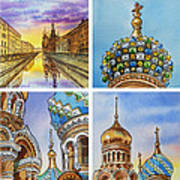 Colors Of Russia Church Of Our Savior On The Spilled Blood  Art Print